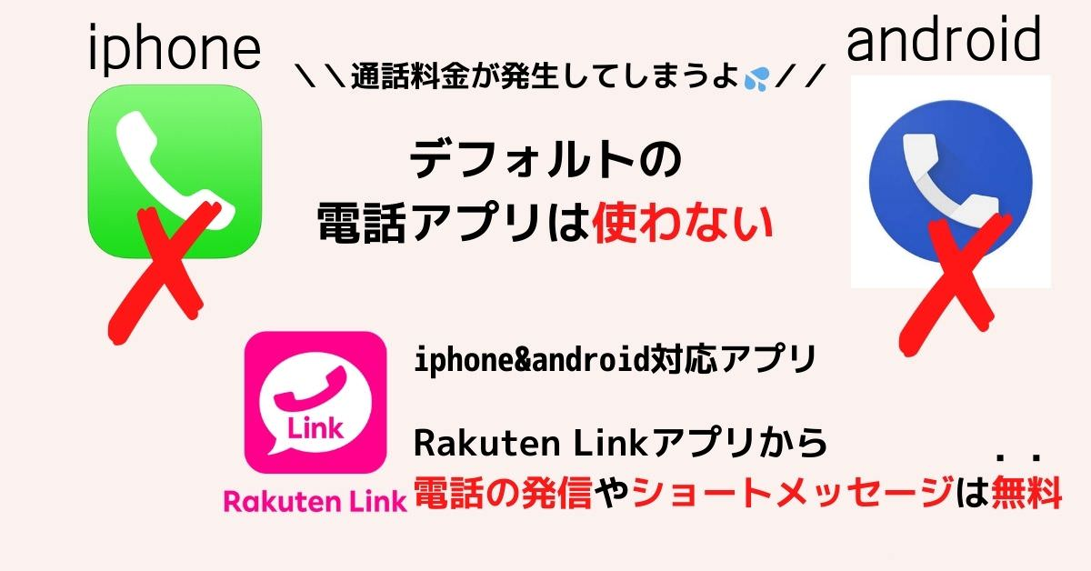 デフォルトの電話アプリを使用しない(Rakuten Linkアプリを使う)